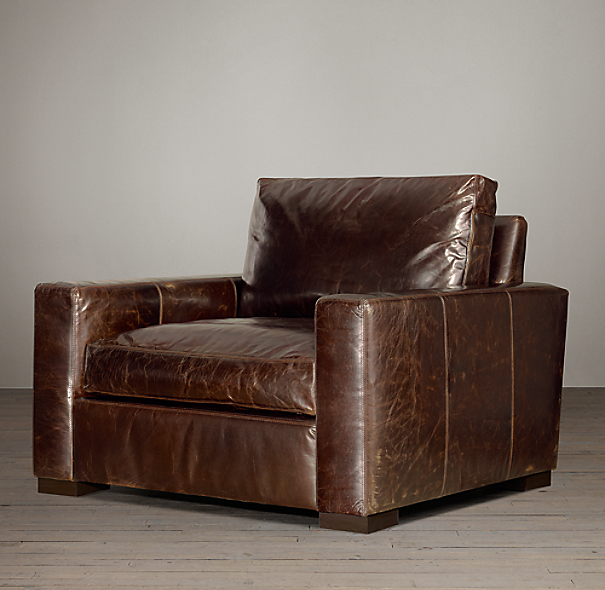 Restoration Hardware Leather Chair: Maxwell Leather Chair