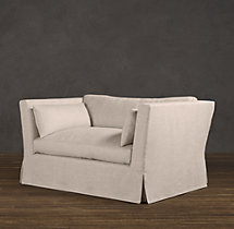 5' Belgian Shelter Arm Slipcovered Sofa