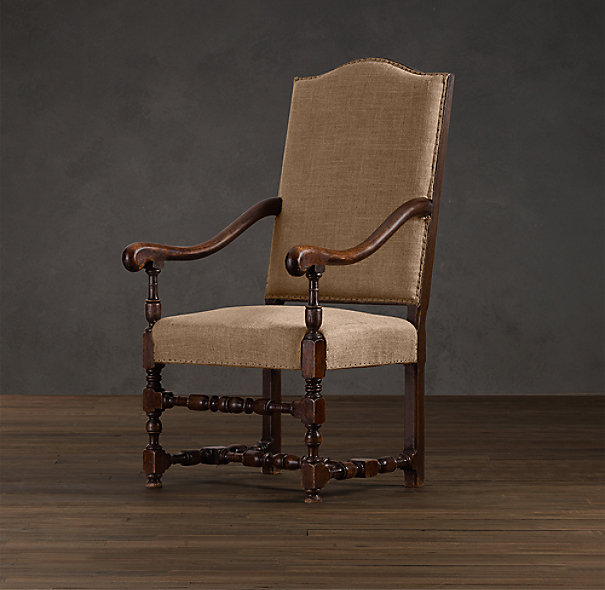 18th C. French Burlap Chair