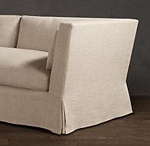 6' Belgian Shelter Arm Slipcovered Sofa