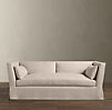 7' Belgian Shelter Arm Slipcovered Sleeper Sofa