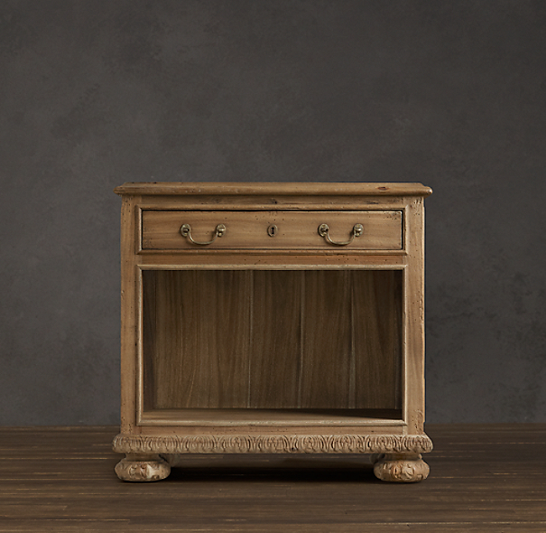 French Empire Open Nightstand Sandblasted