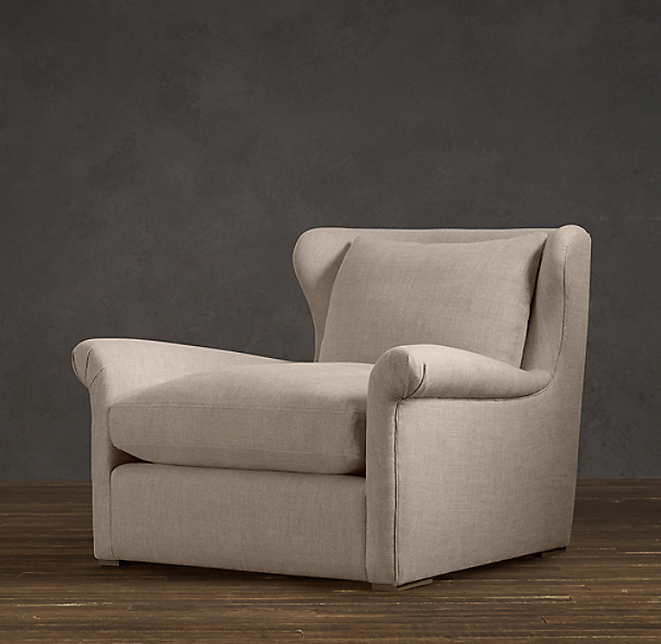 Belgian Wingback Upholstered Chair