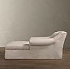 Belgian Roll Arm Slipcovered Chaise