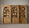 Palladian Salvaged Pine Library Bookcase Triple