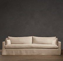 6' Belgian Track Arm Slipcovered Sofa