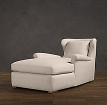 Belgian Wingback Upholstered Chaise