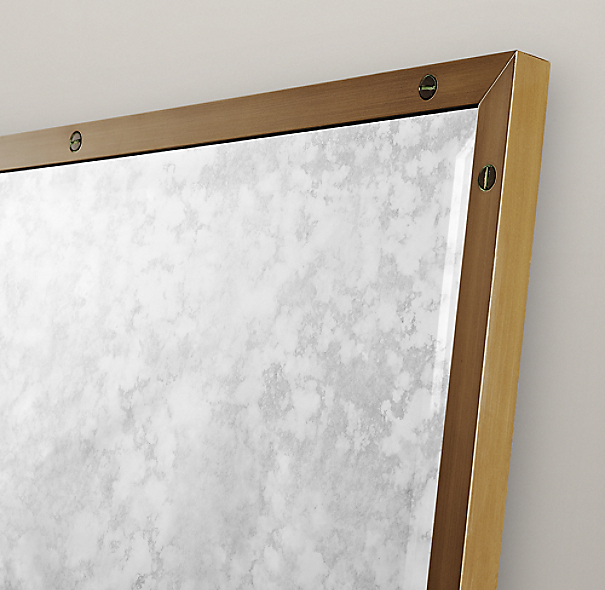 Bistro Antiqued Brass Leaner Mirror