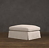 Belgian Roll Arm Slipcovered Ottoman - Sale