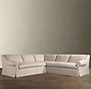 Belgian Roll Arm Slipcovered Corner Sectional