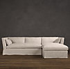 Belgian Shelter Arm Slipcovered Sofa Chaise Sectionals