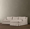 Belgian Track Arm Slipcovered Left-Arm Sofa Chaise Sectional