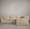 Belgian Track Arm Slipcovered Corner Sectional
