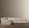 Belgian Slope Arm Slipcovered L-Sectional