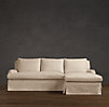 Belgian Classic Roll Arm Slipcovered Right-Arm Sofa Chaise Sectional