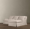 Belgian Classic Roll Arm Slipcovered Sofa Chaise Sectionals