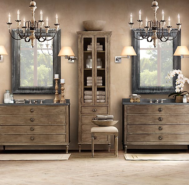 Maison Double Vanity Sink Base