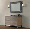 Maison Extra-Wide Single Vanity Sink Antiqued Coffee