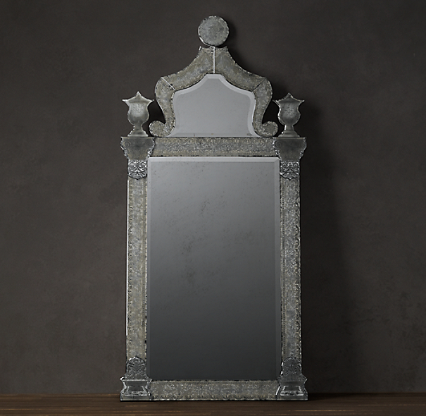 19th C. Baroque Ravenna Etched Mirror