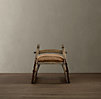 Antique Hungarian Sleigh Bench Burlap