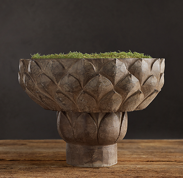 Hand-Carved Stone Lotus Bowl
