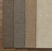 Wool Flat Weave Herringbone Rug Swatch