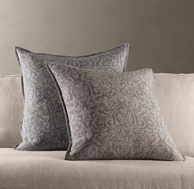 Baroque Linen Pillow Covers