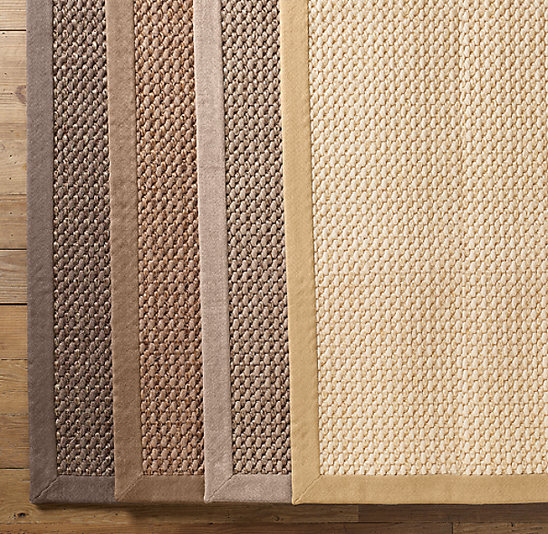 Custom Belgian Textured Wool Sisal Rug