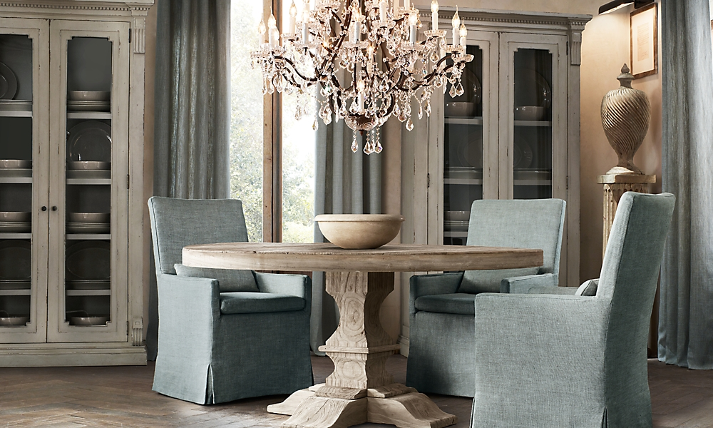 dumont 60 round dining table aged elm