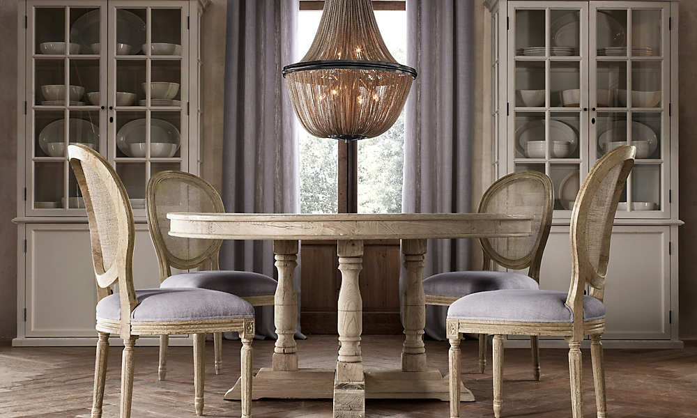 willems 60 round dining table aged elm