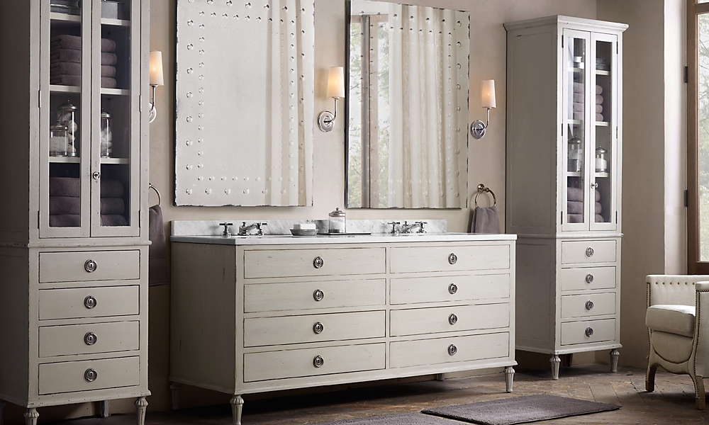 23 simple restoration hardware bathroom vanity for Restoration hardware bathroom cabinets