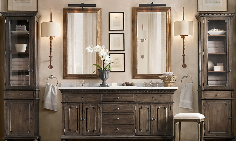 Rooms restoration hardware for Restoration hardware bathroom cabinets