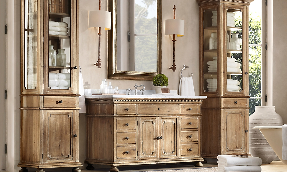 st james extra wide single vanity natural italian cararra