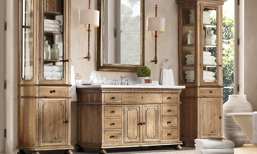 Rooms restoration hardware for Restoration hardware vanities bath