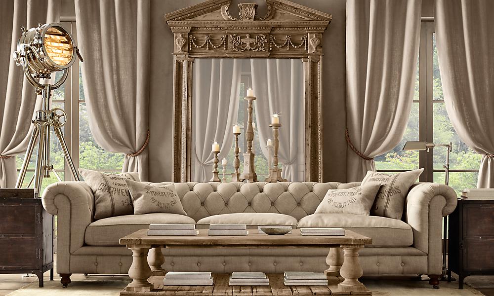 kensington 118 sofa luxe upholstered down belgian linen sand