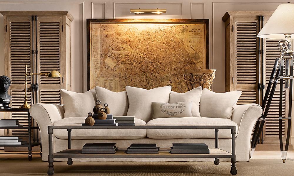 camelback 111 sofa classic slipcovered standard belgian linen sand