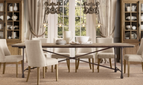Charming Dining Table Restoration Hardware Elm Belgian Trestle Round Dining. 795  1395 595 1095 Select Items On Special