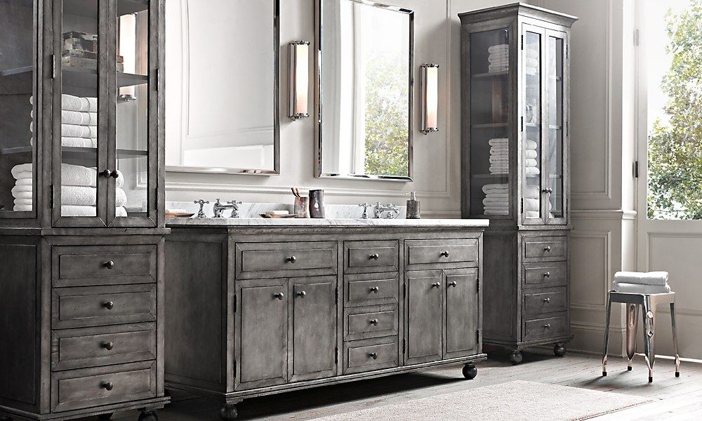 22 fantastic restoration hardware bathroom design for Restoration hardware bathroom cabinets