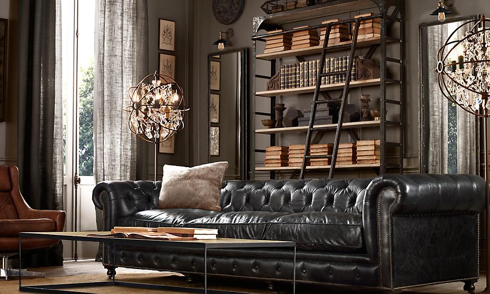 kensington 118 sofa classic upholstered standard slate leather