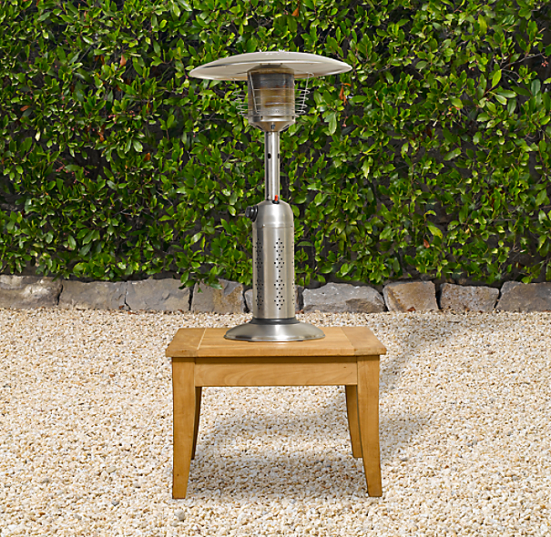 Deluxe Tabletop Propane Patio Heater Polished Stainless Steel