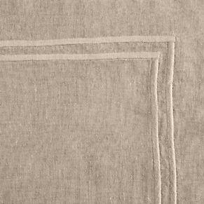 Stonewashed Belgian Linen Satin Stitch Bedding Collection