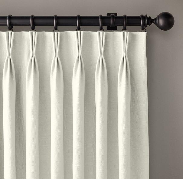 Custom Basket Weave Linen 3 Fold French Pleat