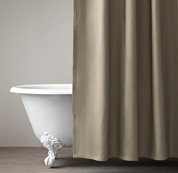 Diamond Matelassé Shower Curtain