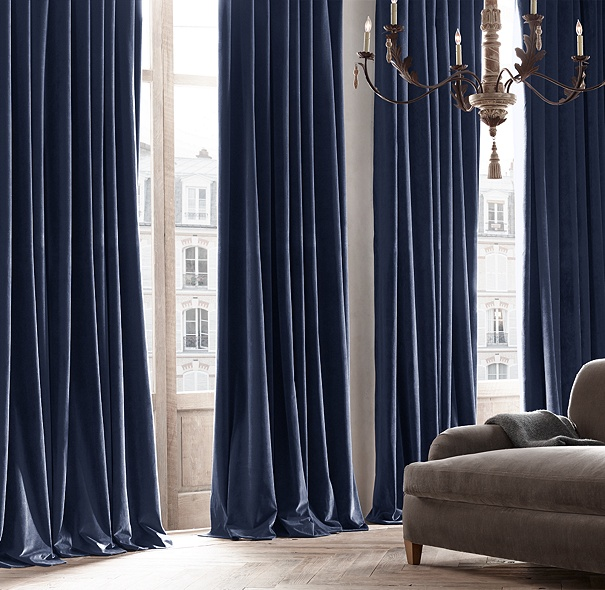 Curtains Ideas blue velvet curtains : Vintage Velvet Drapery