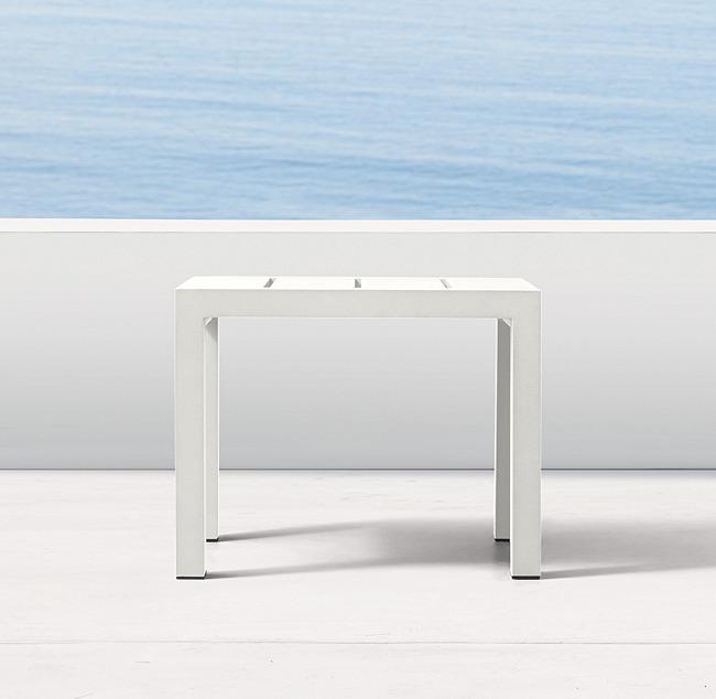 Incredible Aegean Aluminum Side Table Machost Co Dining Chair Design Ideas Machostcouk