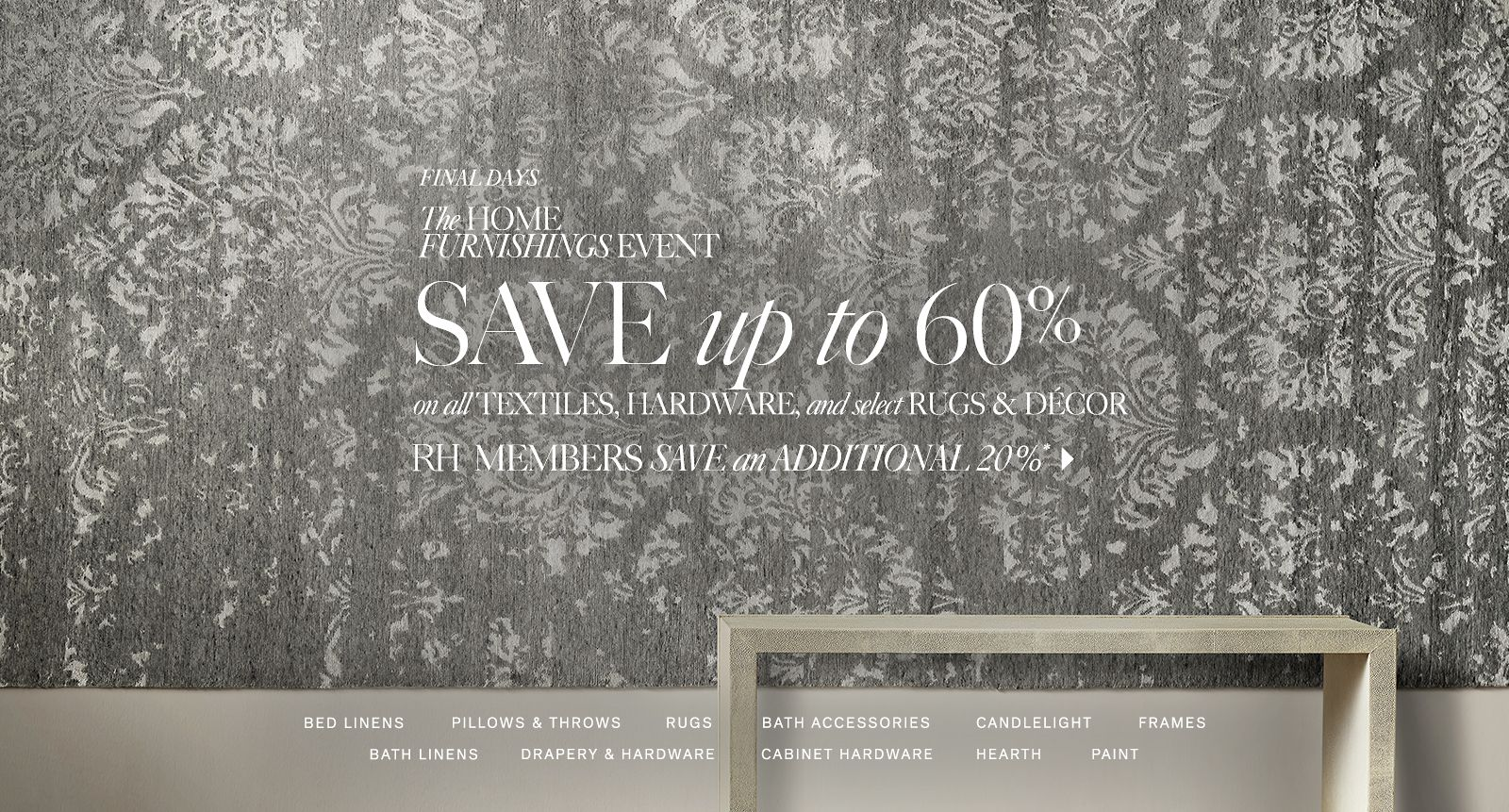 The Home Furnishings Event - Save up to 60%