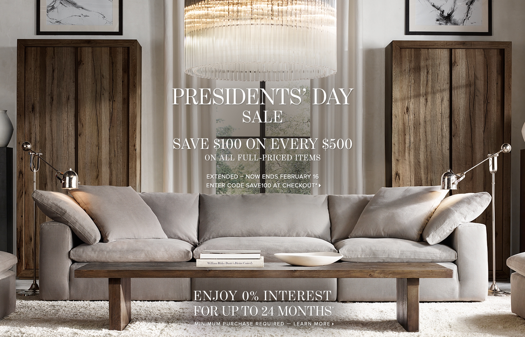 Presidents' Day Sale - Save $100 on Every $500