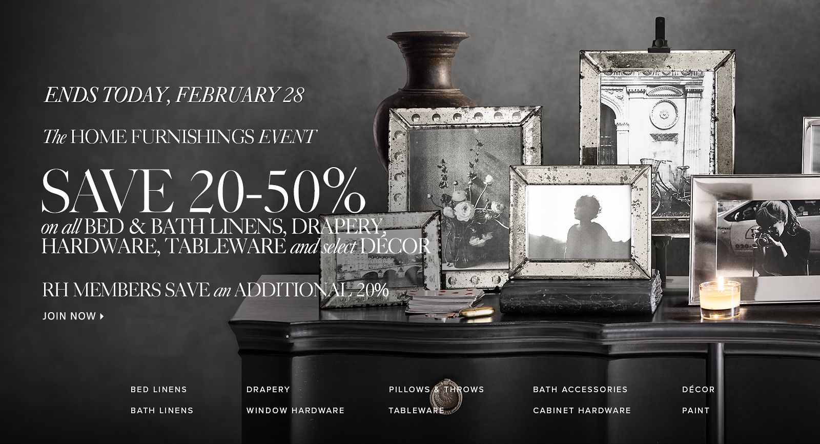 The Home Furnishings Event - Save 20-50%