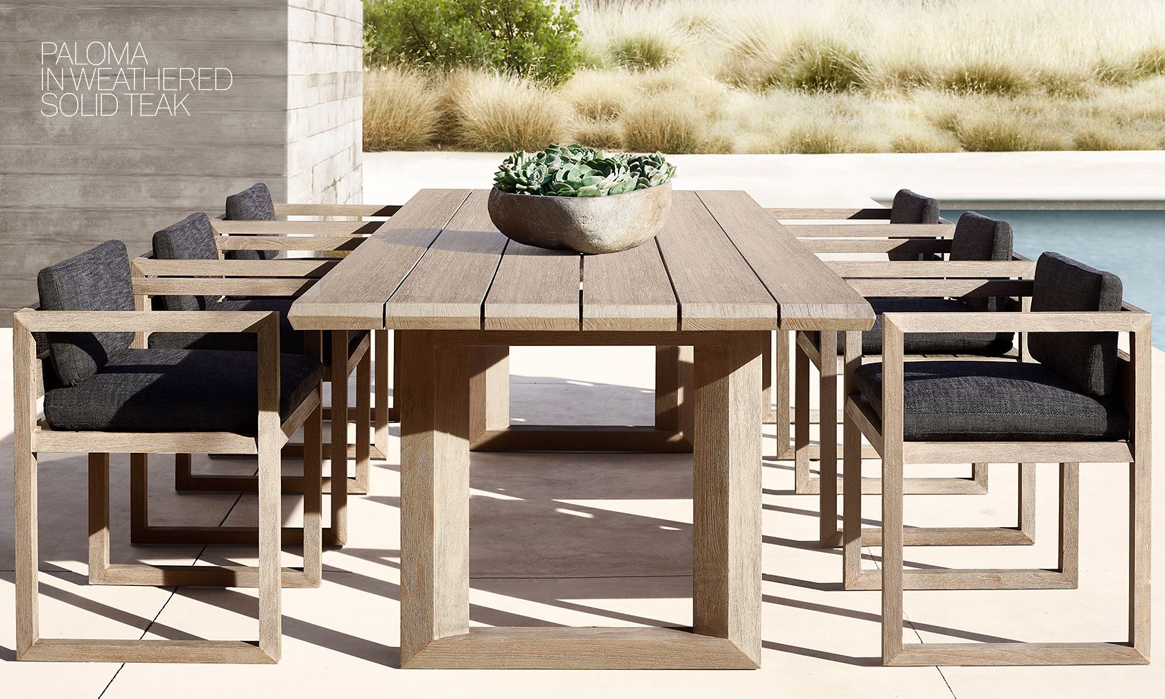 Rh modern homepage for Restoration hardware outdoor dining