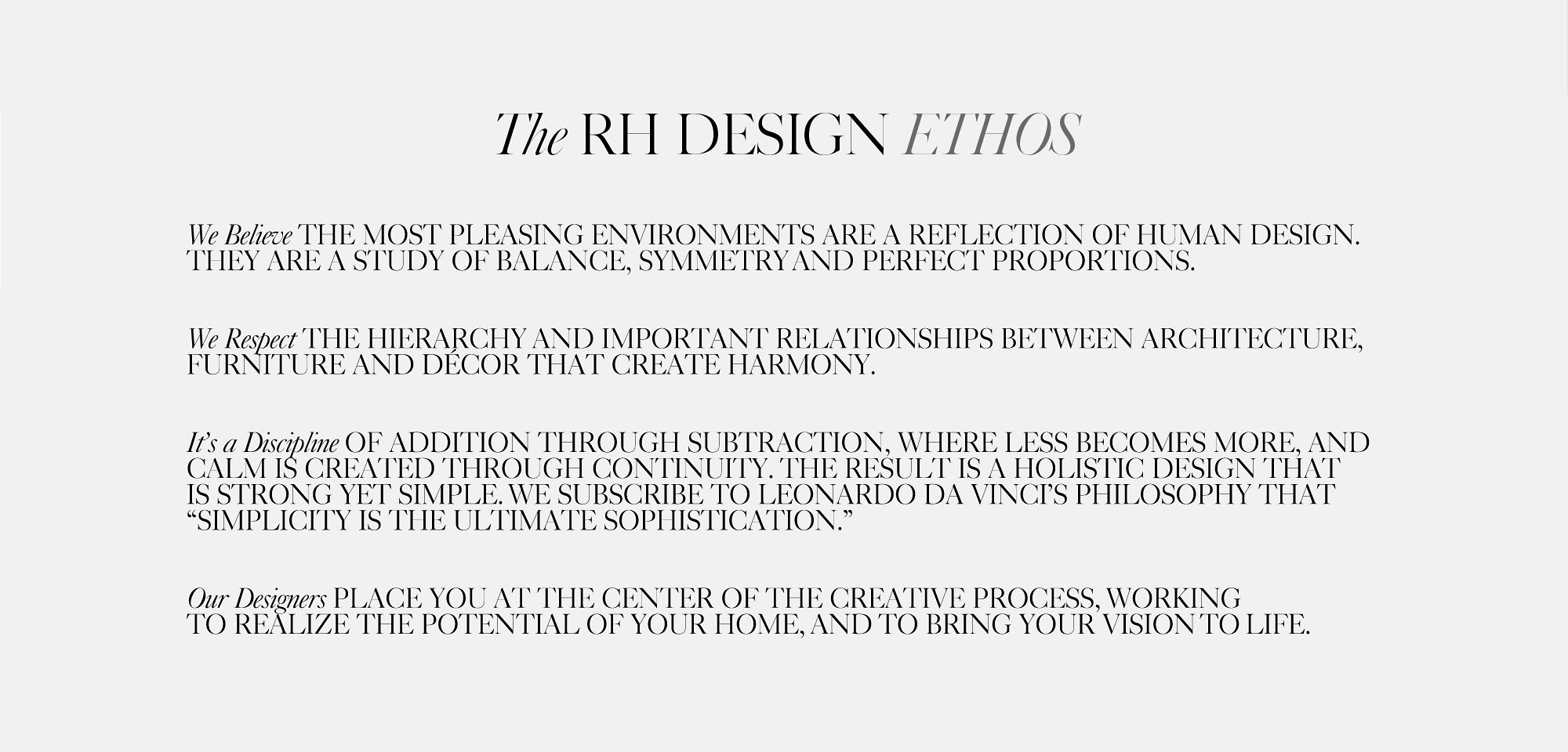 Design Atelier | RH